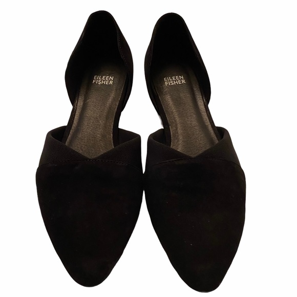 Eileen Fisher Asha-Su Pointed Toe Black, Size 10